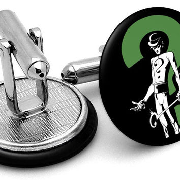 Riddler Question Mark Cufflinks