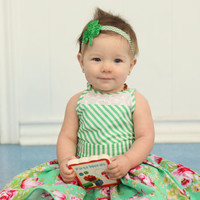 St. Patricks Day Headband - St. Paddies Headband for Girl - Irish Headband for Baby - Green Head Band - Girls Headband for St. Patties Day