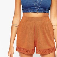 ASOS Co-ord Shorts with Crochet Insert