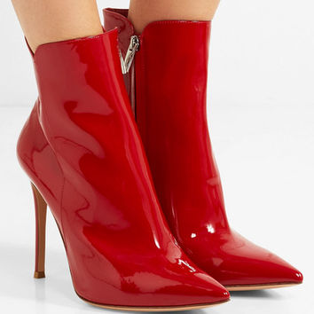 Gianvito Rossi - Levy 100 patent-leather ankle boots