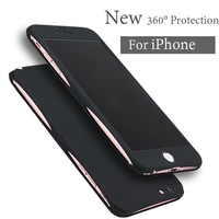 New 360 Degree Full Body Protection Cover Case For iPhone 7 6 6S Plus Case Front Clear Glass Film Back Cover For Iphone7