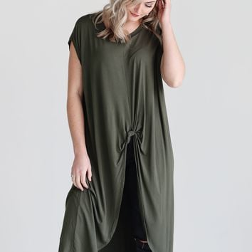 Army PIKO Knotted High-Low Top