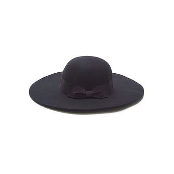 Savvy Chic Panama Hat - Black