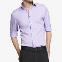 FITTED 1MX STRETCH COTTON SHIRT from EXPRESS