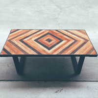 Lee - Geometric Wood Coffee Table | Made To Order | Reclaimed - Modern
