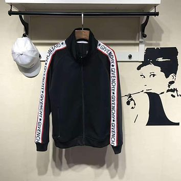 ca spbest Givenchy Black Logo Sports Jacket  Size XL