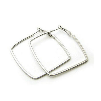 Square Hoop Earrings-Available in Gold & Silver