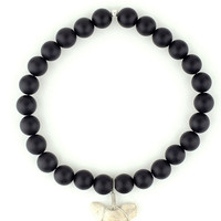 Black Onyx Shark Tooth Bracelet