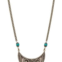 Natalie B Jewelry De Leon Necklace in Metallic Bronze