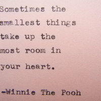 WINNIE THE POOH Quote Winnie the Pooh love quote Typed on Typewriter love quote