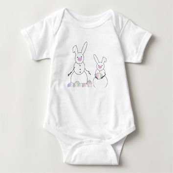 Easter Snowmen Snow Bunnies Baby Bodysuit