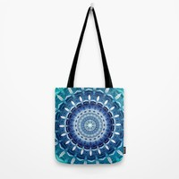 Absolute Zero Mandala Tote Bag by Inspired Images