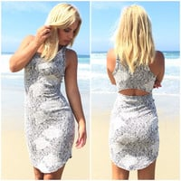 Abstract Art Bodycon Dress