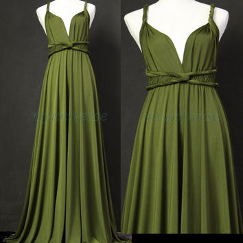 Sage Bridesmaid Dress Olive Green from myuniverse on Etsy | prom