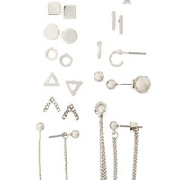 Topshop Geo Stud Earrings (13 Pairs) | Nordstrom