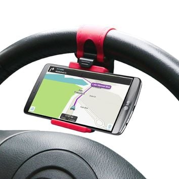 Universal Steering Wheel Holder For Phone ( Fits All Cars)