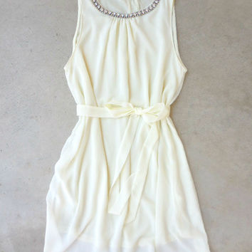 Meadow Grass Party Dress in Ivory