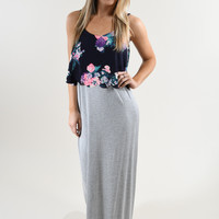 Summer Singing Maxi Dress ~ Grey