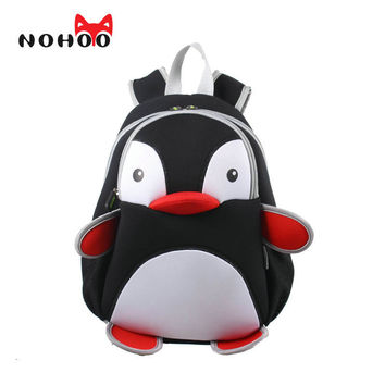 NOHOO US Stock Waterproof Penguin School Bags For Children 3D Animals Kids Baby Bags For Girls Boys High Quality School Bags