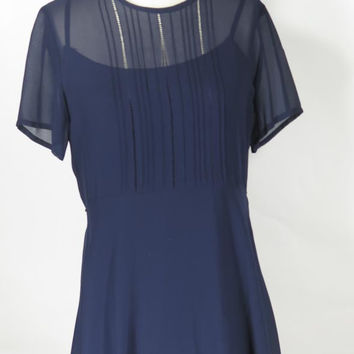 Parker silk blue dress Size 6
