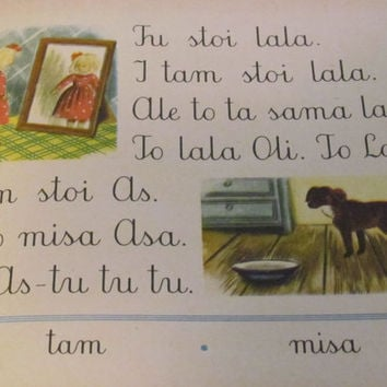 Polish Children's Primer Book Elementarz