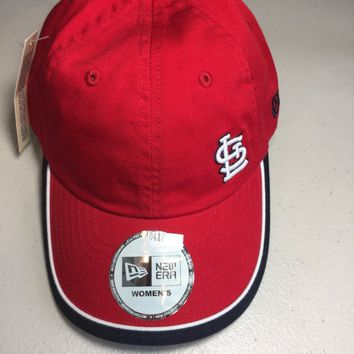ST LOUIS CARDINALS NEW ERA WOMEN'S RED MLB ADJUST HAT SHIPPING