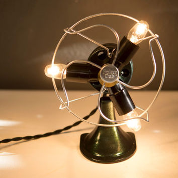 Darling Upcycled Polar Cub Fan Desk Lamp