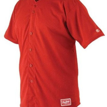 rawlings pindot mesh adult baseball jersey-scarlet Case of 31