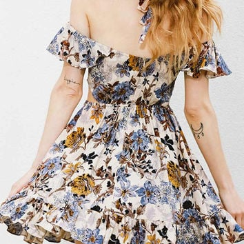 Cupshe Lovers And Flowers Off Shoulder Dress