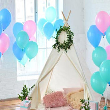 Party Tent Scene with balloons Printed Backdrop - Rebate Eligible - R6718