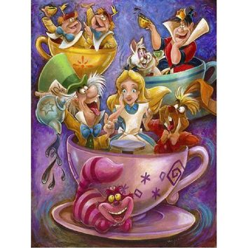 5D Diamond Painting Alice's Crazy Teacups Kit