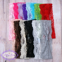 Interchangeable lace headband., stretchy lace headband,  you choose color NEW COLORS