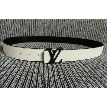 Louis Vuitton 2019 new fashion classic alloy buckle belt LV