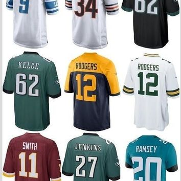2018 Mens Jersey Jalen Ramsey 20 Malcolm Jenkins 27 Alex Smith 11  Aaron Rodgers 12 Jason Kelce 62 Walter Payton 34 Green Bay