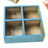 Wooden Weathered Storage Box Tray [6282896710]