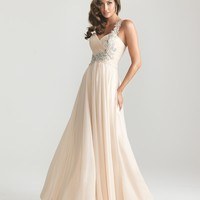 Night Moves 6679 One Shoulder Chiffon Prom Dress