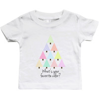 Graphic Snap-on Style Baby Tee, Infant Tee - Favorite Color