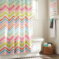 PBteen Zig N Zag Shower Curtain