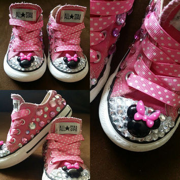 Pink Minnie Mouse Converse