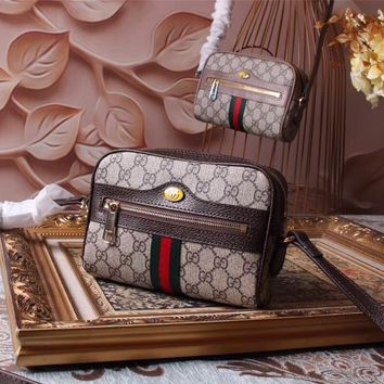GUCCI 2018 HOT STYLE LEATHER OPHIDIA WAIST PACK CROSS BODY BAG