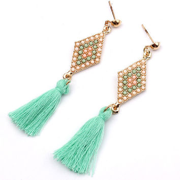 Strong Character Tassels Earring Earrings [6044442305]