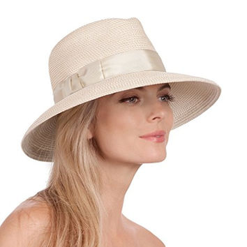 Eric Javits Women's Luxury Headwear Phoenix Hat Cream
