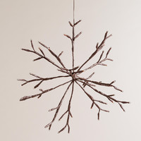 LED Snowflake Battery-Operated Hanging Light - World Market