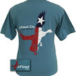 J. Fowl Co. Lock Em Up Texas Flag Duck Bird Authentic Pigment Smoke Unisex Bright T-Shirt