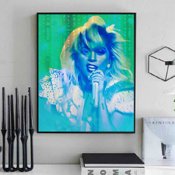 Lady Gaga Super Bowl Half-time Wall Art  | Lisa Jaye Art Designs