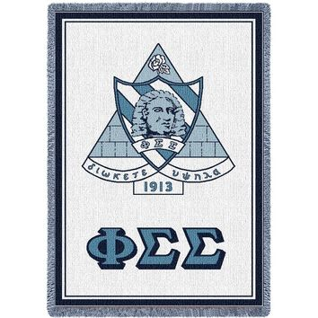 Phi Sigma Sigma Throw Blanket