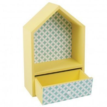 Yellow House Box With Drawer