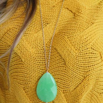 Catching Dreams Necklace: Gold/Mint