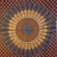 Mandala Tapestry Blue 5 - Mellow Mood