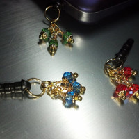 Gold and Glitz Cell Phone Dust Plug Charm